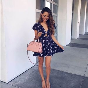 Urban Outfitters Navy Blue Romper